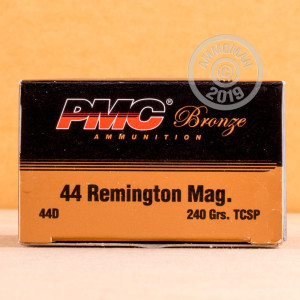 An image of 44 Remington Magnum ammo made by PMC at AmmoMan.com.