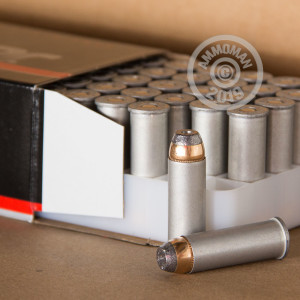 A photo of a box of Blazer ammo in 44 Remington Magnum.