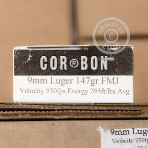 Photo of 9mm Luger FMJ ammo by Corbon for sale at AmmoMan.com.
