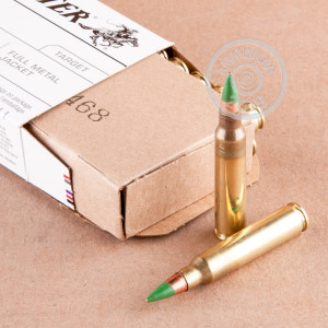 Photograph showing detail of 5.56 NATO WINCHESTER M855 62 GRAIN FMJ (1000 ROUNDS)