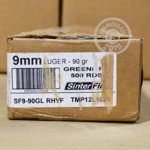 An image of 9mm Luger ammo made by SinterFire at AmmoMan.com.
