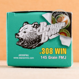 Photo of 308 / 7.62x51 FMJ ammo by Brown Bear for sale.