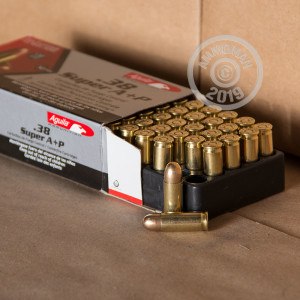An image of 38 Super ammo made by Aguila at AmmoMan.com.