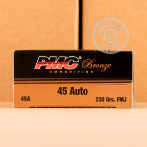 Photo of .45 Automatic FMJ ammo by PMC for sale.