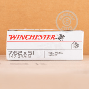 A photograph of 200 rounds of 147 grain 308 / 7.62x51 ammo with a FMJ bullet for sale.