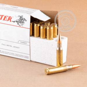 Image detailing the brass case on the Winchester ammunition.