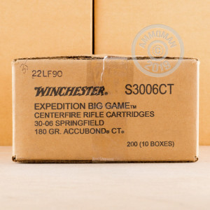 30-06 SPRINGFIELD 180 GRAIN ACCUBOND CT POLYMER TIP (20 ROUNDS)