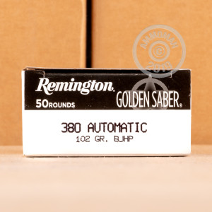 A photo of a box of Remington ammo in .380 Auto.