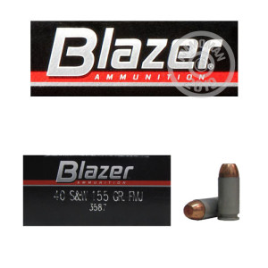 Image detailing the aluminum case and boxer primers on the Blazer ammunition.