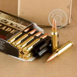 Image detailing the brass case on the Nosler Ammunition ammunition.