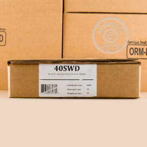 Photo of .40 Smith & Wesson FMJ ammo by Fiocchi for sale at AmmoMan.com.