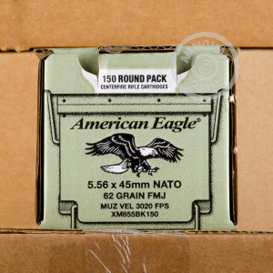 Image of the 5.56 NATO FEDERAL LAKE CITY M855 BALL 62 GRAIN FMJ (600 ROUNDS) available at AmmoMan.com.