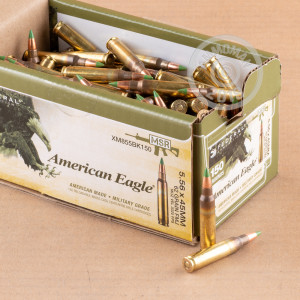 Photograph showing detail of 5.56 NATO FEDERAL LAKE CITY M855 BALL 62 GRAIN FMJ (600 ROUNDS)