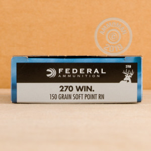 Photo of 270 Winchester soft point ammo by Federal for sale.
