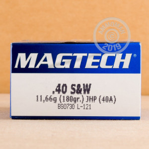 An image of .40 Smith & Wesson ammo made by Magtech at AmmoMan.com.