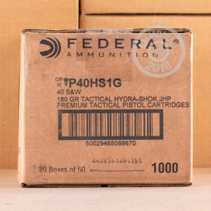 An image of .40 Smith & Wesson ammo made by Federal at AmmoMan.com.