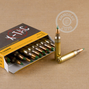 Photo detailing the 5.56X45 PMC X-TAC BATTLE PACK 62 GRAIN FMJ GREEN TIP (120 ROUNDS) for sale at AmmoMan.com.