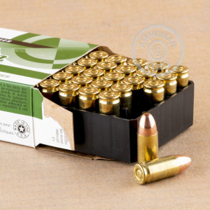An image of 9mm Luger ammo made by Remington at AmmoMan.com.