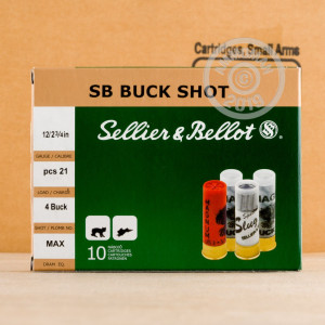 Photograph of Sellier & Bellot 12 Gauge #4 BUCK for sale at AmmoMan.com