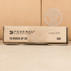 A photograph detailing the .380 Auto ammo with JHP bullets made by Federal.