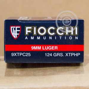 Image detailing the nickel-plated brass case and boxer primers on the Fiocchi ammunition.