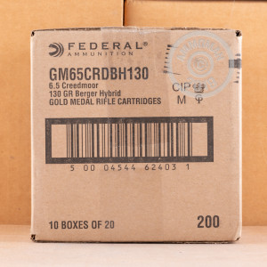 Image of 6.5MM CREEDMOOR ammo by Federal that's ideal for precision shooting.
