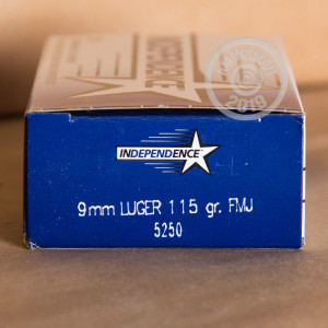 Photo of 9mm Luger FMJ ammo by Independence for sale at AmmoMan.com.