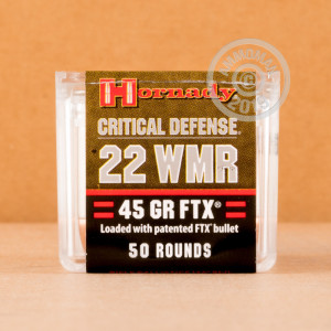 rounds of .22 WMR ammo with flex tip technology bullets made by Hornady.