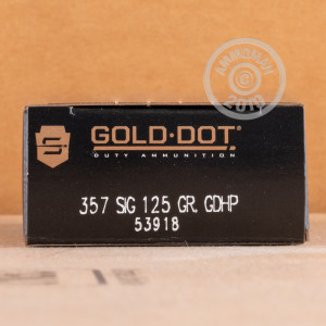Photo of 357 SIG JHP ammo by Speer for sale at AmmoMan.com.