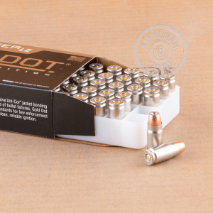 Image of Speer 357 SIG pistol ammunition.