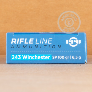 An image of 243 Winchester ammo made by Prvi Partizan at AmmoMan.com.