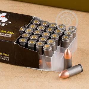 An image of bulk 9mm Luger ammo made by Wolf at AmmoMan.com.