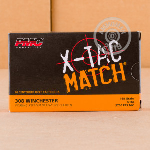 Image of 308 / 7.62x51 ammo by PMC that's ideal for precision shooting.