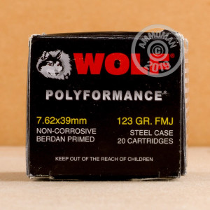 Photo of 7.62 x 39 FMJ ammo by Wolf for sale.