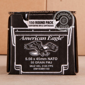 Image of 5.56x45MM FEDERAL AMERICAN EAGLE 55 GRAIN FMJ (600 ROUNDS)