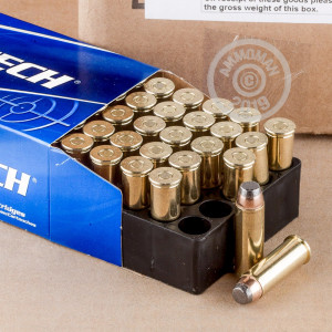 Photo of 44 Remington Magnum Semi-Jacketed Soft-Point (SJSP) ammo by Magtech for sale at AmmoMan.com.