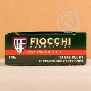 A photograph of 200 rounds of 150 grain 308 / 7.62x51 ammo with a FMJ bullet for sale.