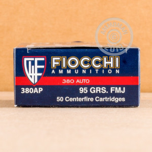 A photograph of 1000 rounds of 95 grain .380 Auto ammo with a FMJ bullet for sale.