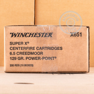 Image of 6.5 CREEDMOOR WINCHESTER SUPER-X 129 GRAIN POWER POINT (200 ROUNDS)