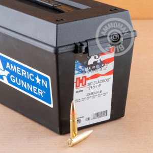 Image of 300 AAC BLACKOUT HORNADY AMERICAN GUNNER 125 GRAIN HP IN FIELD BOX (200 ROUNDS)