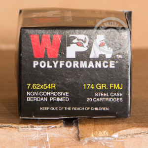 A photo of a box of Wolf ammo in 7.62 x 54R.