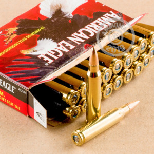 Image of 223 REMINGTON FEDERAL AMERICAN EAGLE 62 GRAIN FMJBT (500 ROUNDS)