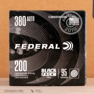 A photo of a box of Federal ammo in .380 Auto.