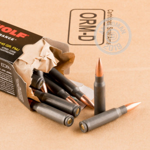 A photo of a box of Wolf ammo in 308 / 7.62x51.