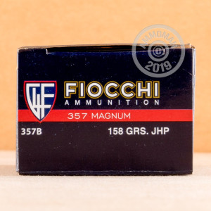 A photo of a box of Fiocchi ammo in 357 Magnum.