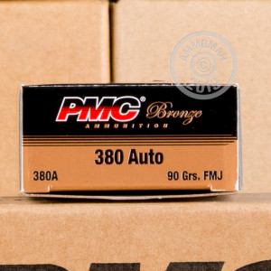 A photo of a box of PMC ammo in .380 Auto.