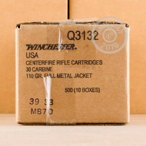 Image of Winchester .30 Carbine rifle ammunition.