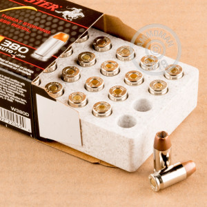 Image of .380 Auto ammo by Winchester that's ideal for home protection.