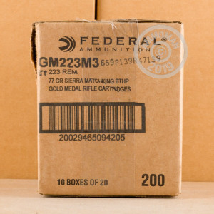 Image of 223 REMINGTON FEDERAL PREMIUM GOLD MEDAL 77 GRAIN HPBT (20 ROUNDS)