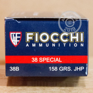 Photo of 38 Special JHP ammo by Fiocchi for sale at AmmoMan.com.